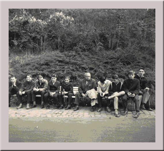 Meine Klasse in der Oberrealschule Saarbrücken mit Klassenlehrer Kaissling