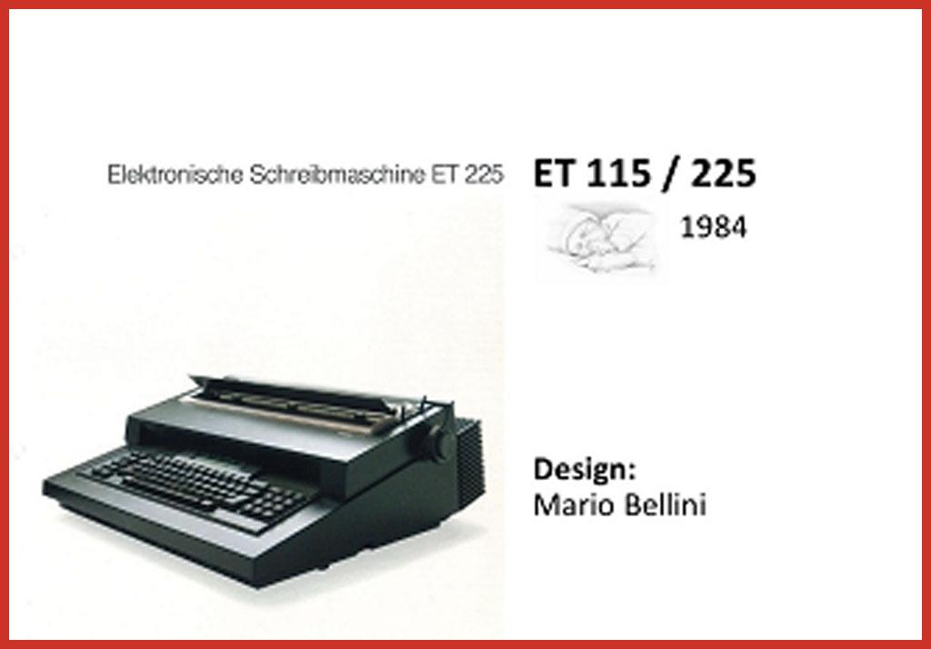 Mit der ET Serie begann bei Olivetti der Weg der elektronischen Schreibmaschinen und Textverarbeitung.
