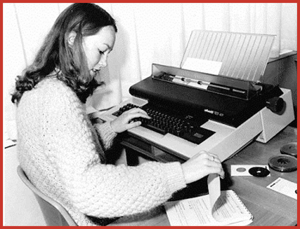 TES 401. Das wohl erfolgreichste Textverarbeitungssystem von Olivetti.
