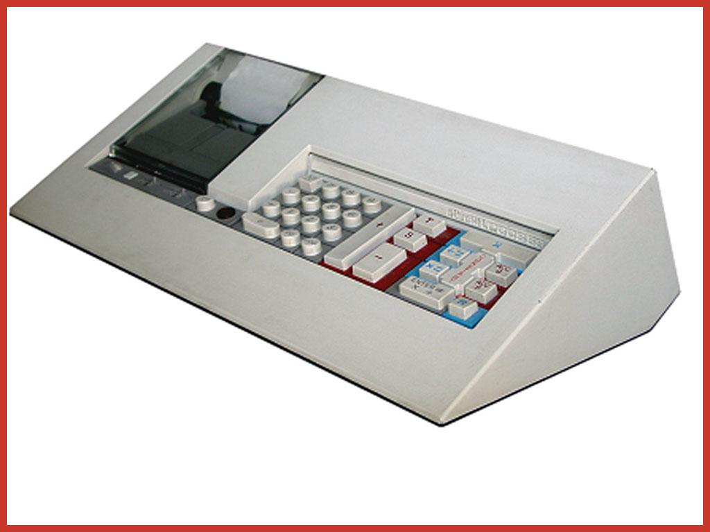 Das Elektronikzeitalter. Logos 55, 1973. Design: Mario Bellini. Auch diese Olivetti Maschine steht im Museum of Modern Art in New York.