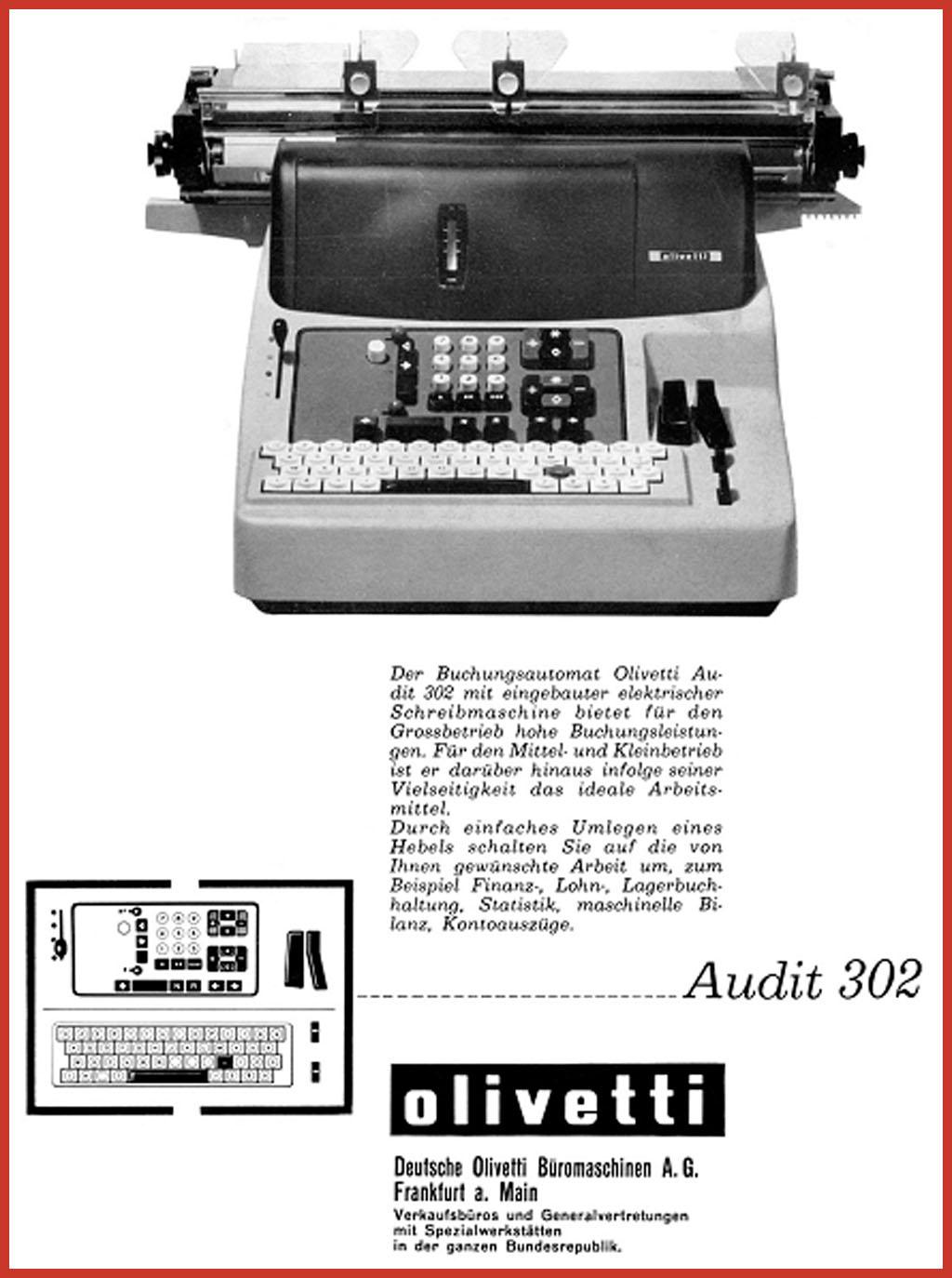 """Buchungsmaschinen der Serie """"Audit"""""""