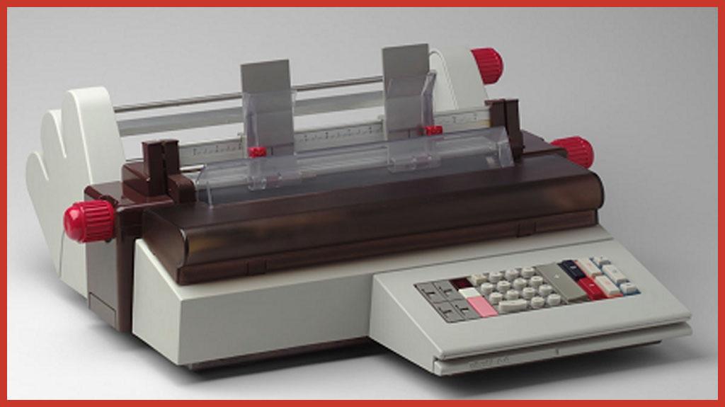 Und dann gab es auch noch die Olivetti A4 im Bellini Design